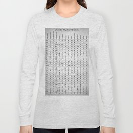 Ancient And Mystical Alphabets Long Sleeve T-shirt
