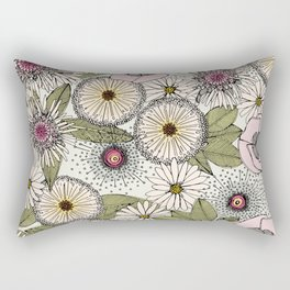Australian garden chalk Rectangular Pillow