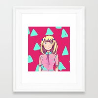 saga Framed Art Prints featuring triangle saga by teandyn
