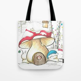 Mushroom in the Snow Tote Bag