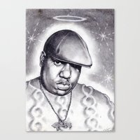 notorious Canvas Prints featuring Notorious by DaeSyne Artworks