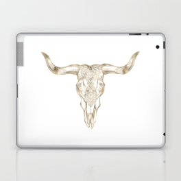 Bull Skull Gold Laptop & iPad Skin