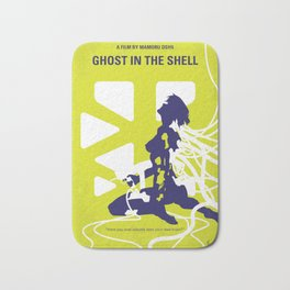 No366 My Ghost in the Shell minimal movie poster Bath Mat
