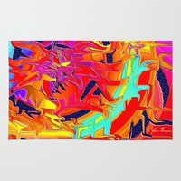 chakra Area & Throw Rugs featuring Chakra by JT Digital Art