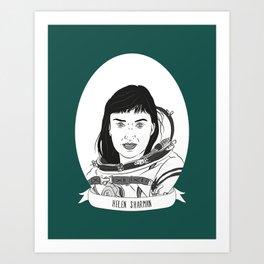 Helen Sharman Illustrated Portrait Art Print