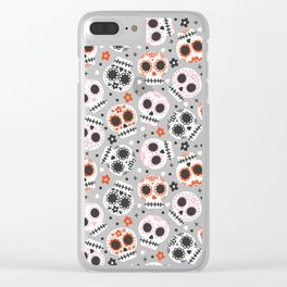 Sugar Skulls Clear iPhone Case