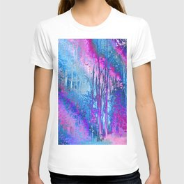 Psychedelic Forest (blue-pink) T-shirt