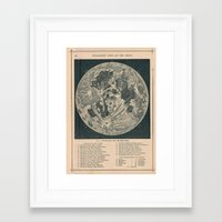 the moon Framed Art Prints featuring Moon  by Le petit Archiviste
