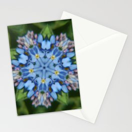 Fluid Nature - Forget Me Not - Abstract Kaleidoscope Stationery Cards