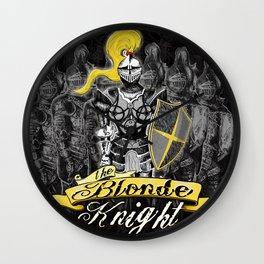 The Blonde Knight Wall Clock
