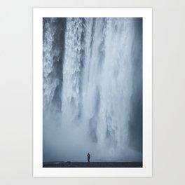 scale at skogafoss Art Print