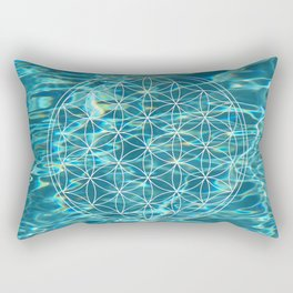 Flower of life in the water Rectangular Pillow