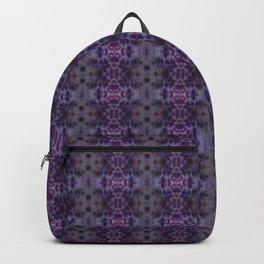 Purple Iris Abstract Pattern Backpack