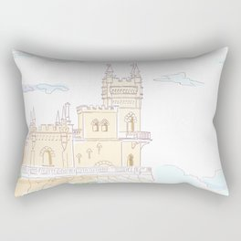 Old medieval castle. Wall art. Rectangular Pillow