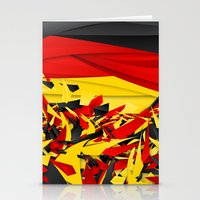 germany Stationery Cards featuring Germany by Danny Ivan