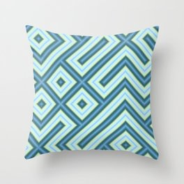 Square Truchets in MWY 01 Throw Pillow