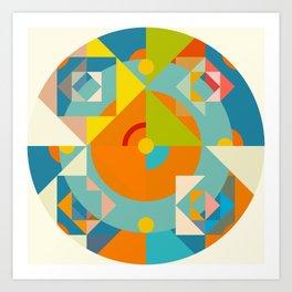 Canaima - Colorful Decorative Abstract Art Pattern Art Print