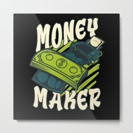 Money Maker Dollars Metal Print