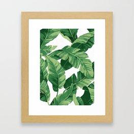 Tropical banana leaves IV Gerahmter Kunstdruck