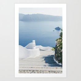 Santorini Stairs I (Vertical) Art Print