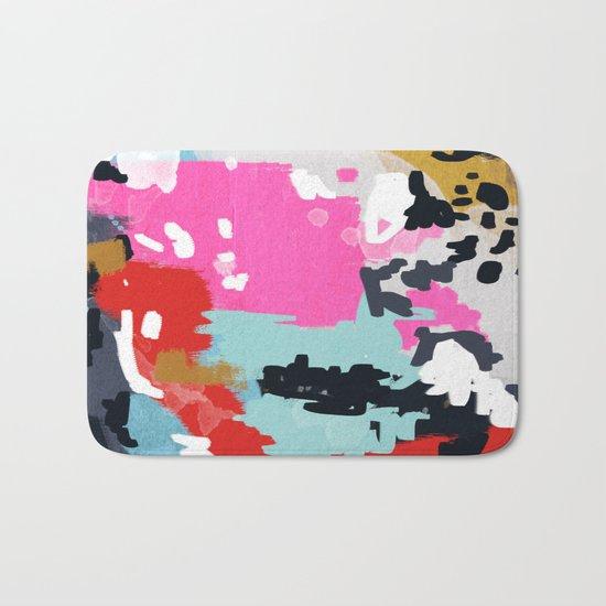 Charlotte - abstract minimal painting customized home decor original art by charlotte winter Bath Mat