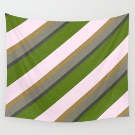 Pink Roses in Anzures 5  Stripes 3D Wall Tapestry