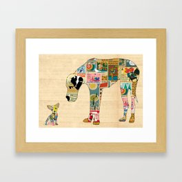 Great Dane and Chihuhua Collage  Framed Art Print