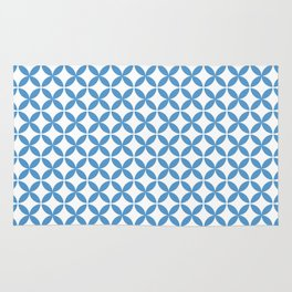 Palm Springs Screen: Turquoise [Smaller Print] Rug