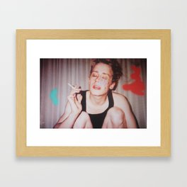 Home Alone Smoking Framed Art Print