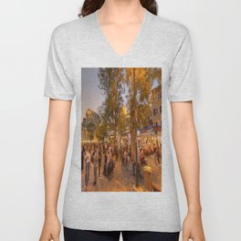 Istanbul At Night Unisex V-Neck
