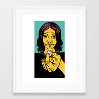 tooth Framed Art Prints featuring tooth by Evan R. Spears