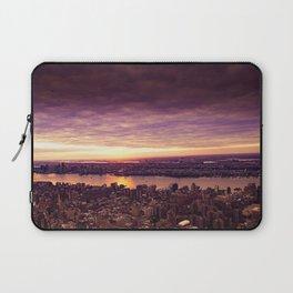 purple sunset New York Laptop Sleeve