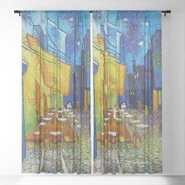 "Vincent van Gogh ""Cafe Terrace, Place du Forum, Arles"" Sheer Curtain"