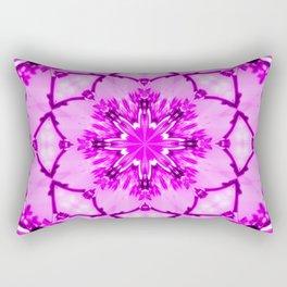 Eastern Redbud And The Bee Kaleidoscope Infrared Neon Pink Rectangular Pillow