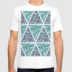 Geometric Paradise Mens Fitted Tee MEDIUM White