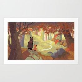 Bear and Cloak Art Print