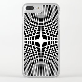 White On Black Convex Clear iPhone Case