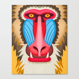 Baboon Head Canvas Print