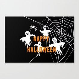 Monsters Happy Halloween Canvas Print