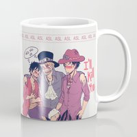luffy Mugs featuring ASL by yamineftis