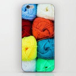 Coloured Balls of Wool iPhone Skin