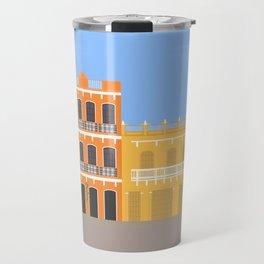Colored Buildings in Getsemani, Colombia Travel Mug