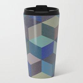 Dimension in blue Metal Travel Mug