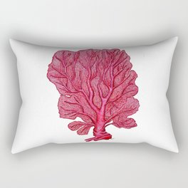 Venus red sea fan coral Rectangular Pillow