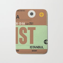 IST Istanbul Luggage Tag 2 Bath Mat