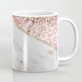 Shimmering rose gold with rose gold marble Coffee Mug