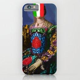 French Italian Pop Remix of Classical Painting of Bronzino iPhone Case