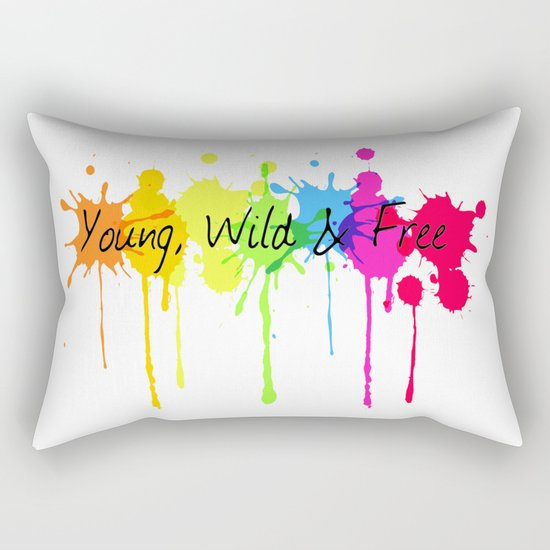 Young, Wild and Free Rectangular Pillow