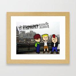 Kyoto Street Punk Framed Art Print