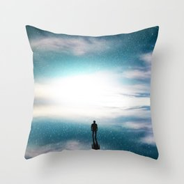 Out of space and time Throw Pillow